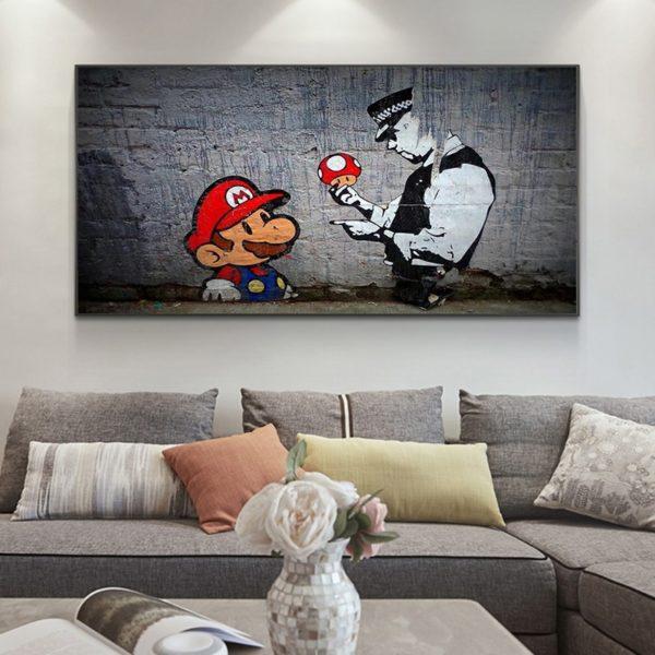 Peinture à l'huile Mario