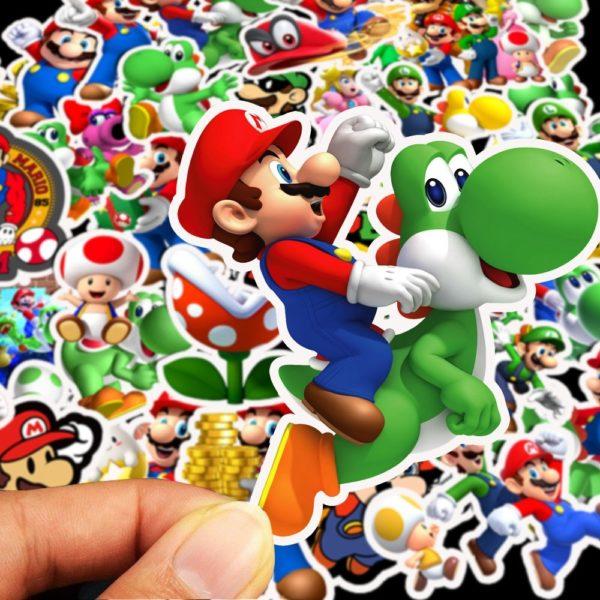 50pcs Autocollants Super Mario  5