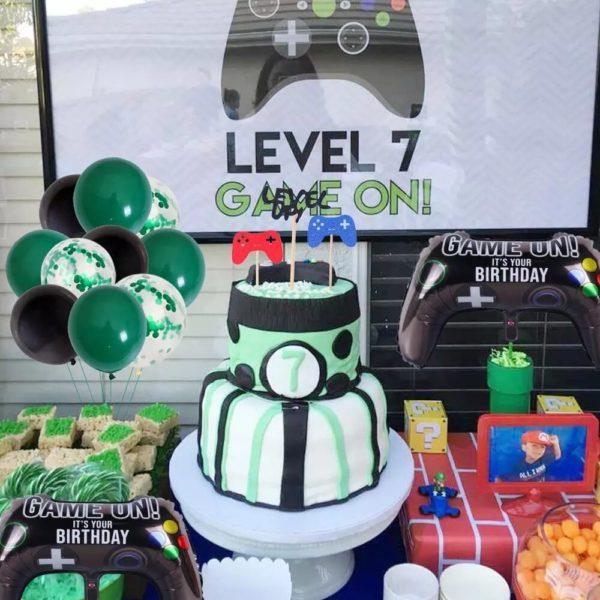 Décorations de Fête d'anniversaire avec thème Jeux Vidéo. 2