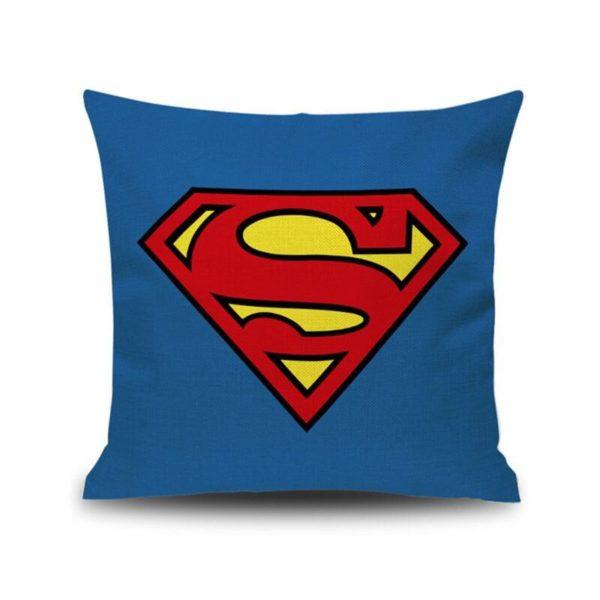 Housse de coussin avec Emblème Super-Héros. 2