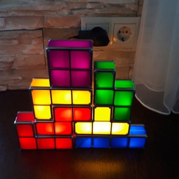 Veilleuse LED Tetris  4