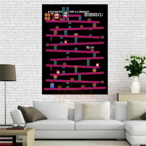 Affiche de Jeu Nintendo Kong-rétro