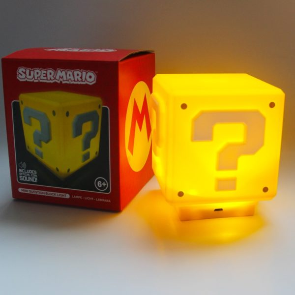 Lampe LED en Forme de Cube Super Mario.