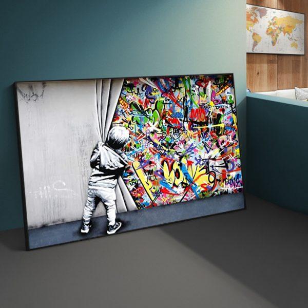 Art Mural avec Style Graffiti