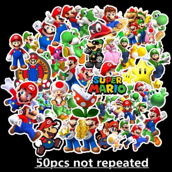 50pcs Autocollants Super Mario  3