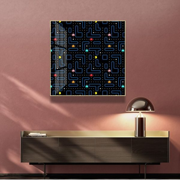 Toile de Peinture Abstraite Pacman. 3