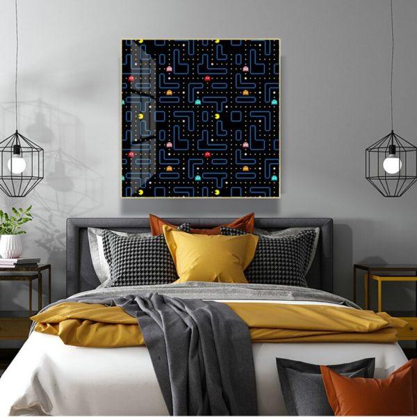 Toile de Peinture Abstraite Pacman. 2