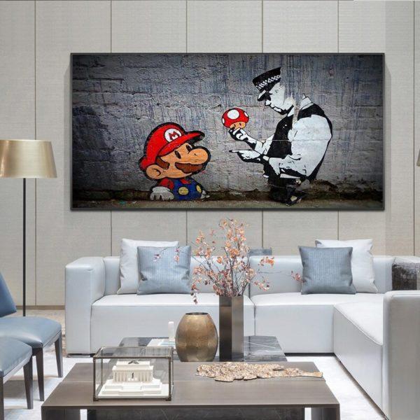 Peinture à l'huile Mario 2