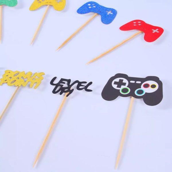 Décorations de Fête d'anniversaire avec thème Jeux Vidéo. 6