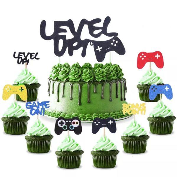 Décorations de Fête d'anniversaire avec thème Jeux Vidéo. 4