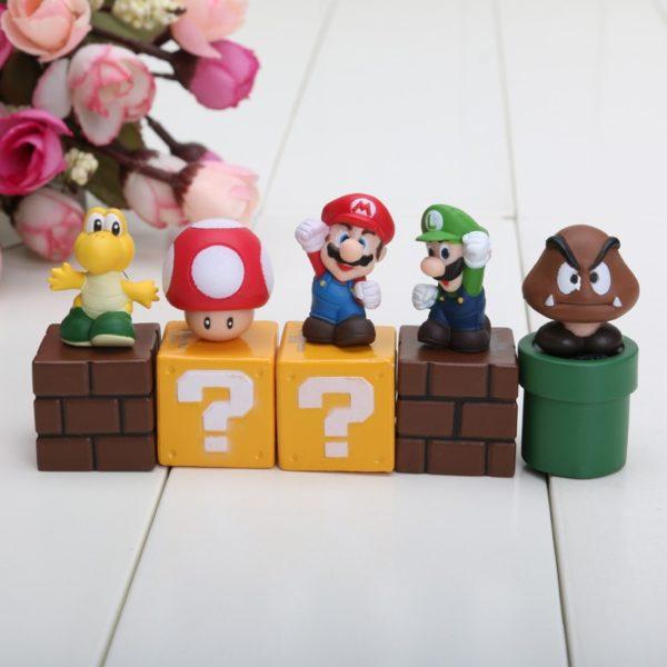 Figurines Mario Bros 5 pièces