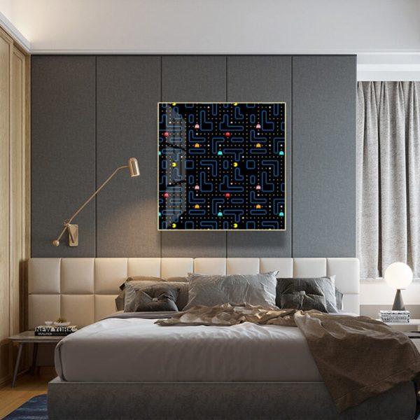 Toile de Peinture Abstraite Pacman. 4