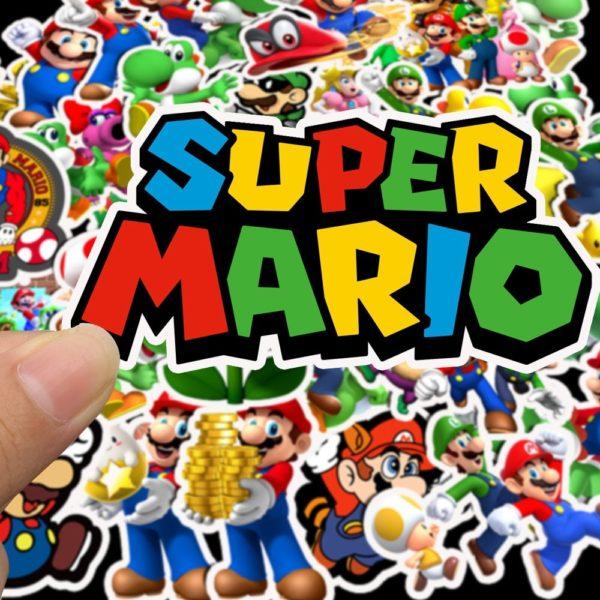 50pcs Autocollants Super Mario  4
