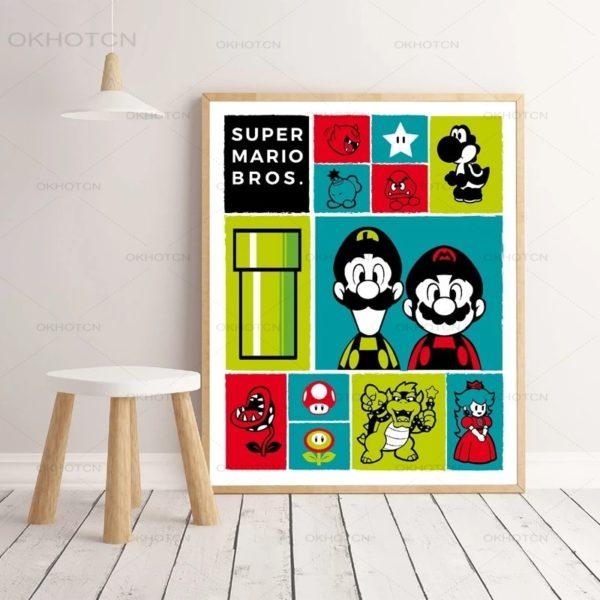 Affiche Imprimer d'Icônes Mario  2