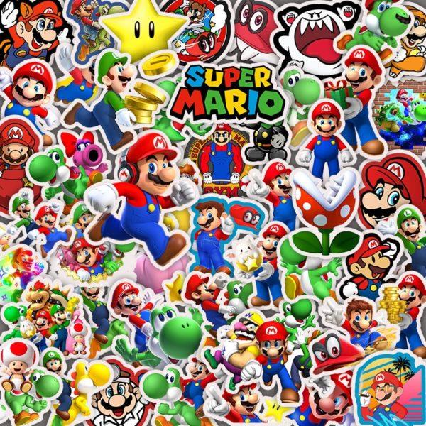 50pcs Autocollants Super Mario  6