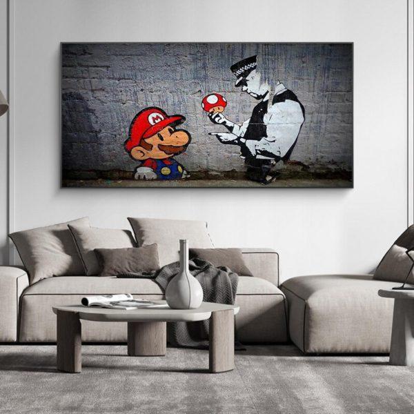Peinture à l'huile Mario 3