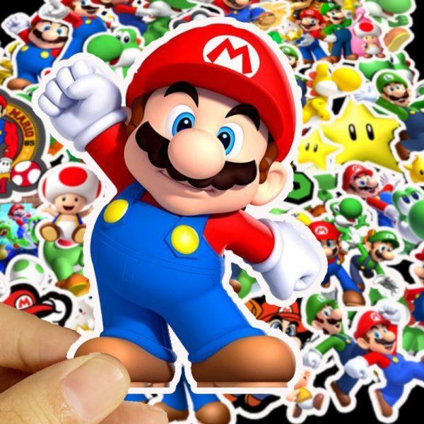 50pcs Autocollants Super Mario  2