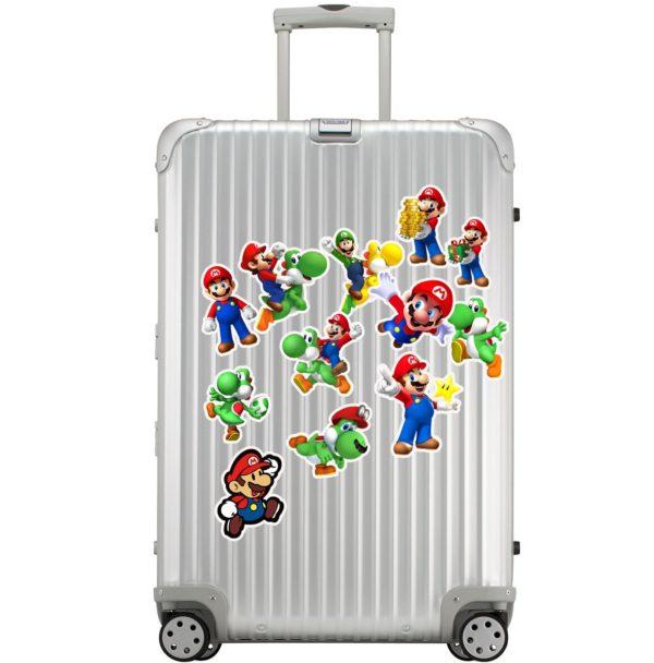 50pcs Autocollants Super Mario