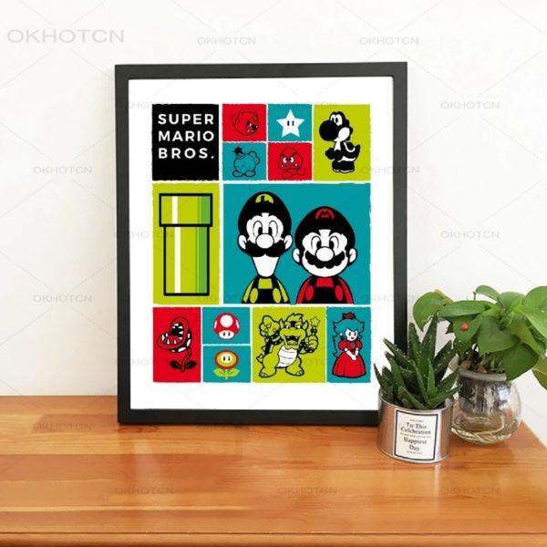 Affiche Imprimer d'Icônes Mario