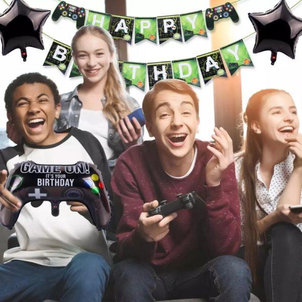 Décorations de Fête d'anniversaire avec thème Jeux Vidéo. 3