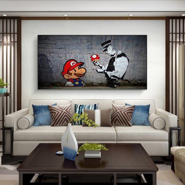Peinture à l'huile Mario 4